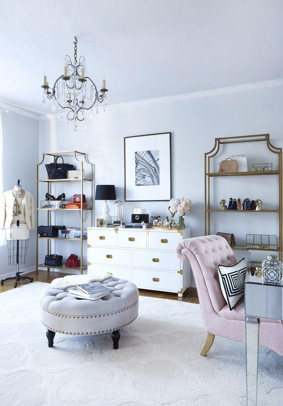 Wnętrze w stylu glamour