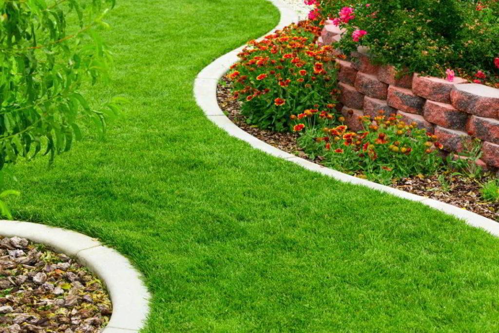 Betonowe obrzeża chodnikowe w ogrodzie